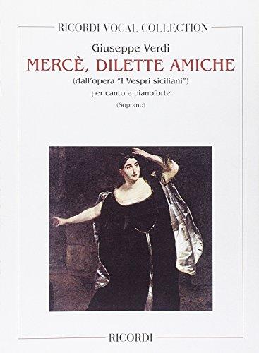 9780040549233: Partitions classique RICORDI VERDI G. - MERCE' DILETTE AMICHE - CHANT ET PIANO Voix solo, piano