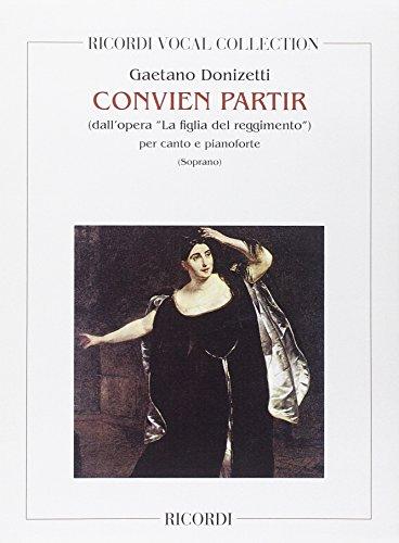 9780040962612: RICORDI DONIZETTI G. - CONVIEN PARTIR - CHANT ET PIANO Classical sheets Voice solo, piano
