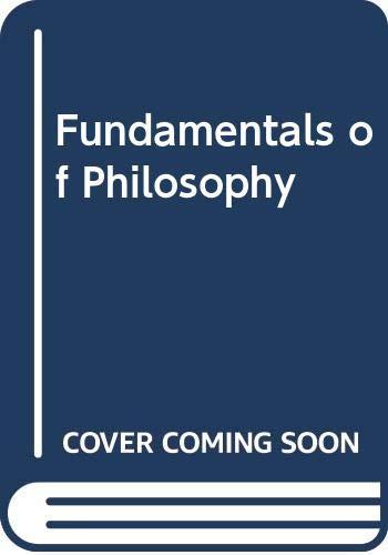 Fundamentals of Philosophy: Harris, Errol E.