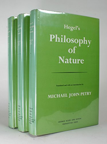 9780041000214: Hegel's Philosophy of Nature; ([Muirhead library of philosophy]) (v. 1)
