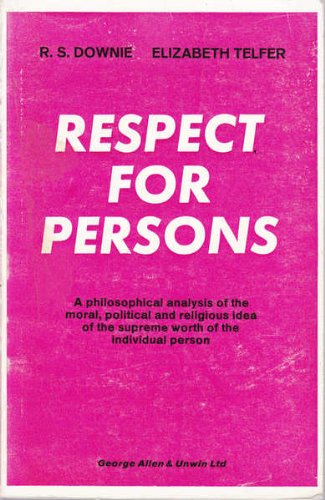 9780041000252: Respect for Persons