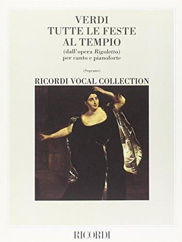 9780041033618: Partitions classique RICORDI VERDI G. - TUTTE LE FESTE AL TIEMPO - CHANT & PIANO Soprano, piano