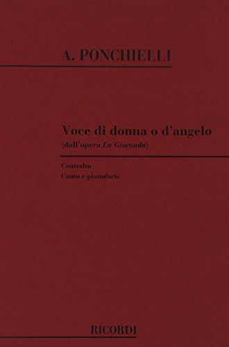 9780041099232: Partitions classique RICORDI PONCHIELLI A. - VOCE DI DONNA O D'ANGELO - CHANT ET PIANO Voix solo, piano