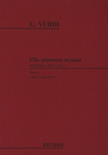 9780041101003: Don Carlo: Ella Giammai M'Amo'