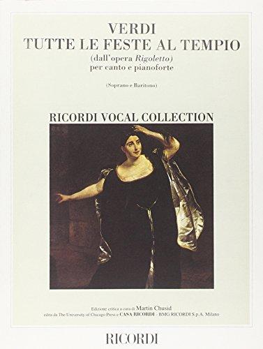 9780041102550: Rigoletto: Tutte Le Feste Al Tempio - Vocal and Piano - SCORE