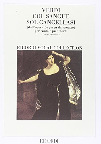 9780041103151: La Forza Del Destino: Col Sangue Sol Cancellasi - Vocal and Piano - SCORE