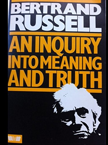 9780041210194: Inquiry into Meaning and Truth