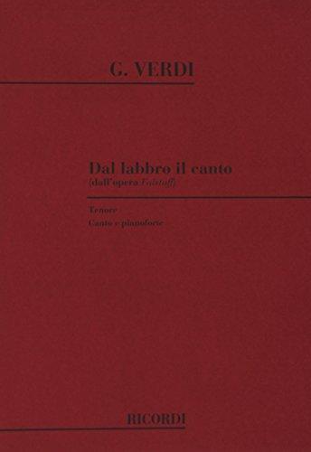 9780041258776: FALSTAFF: DAL LABBRO IL CANTO