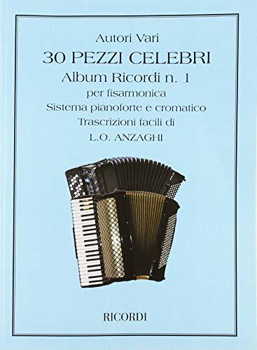 9780041268171: 30 Pezzi Celebri Per Fisarmonica - Accordion - SCORE