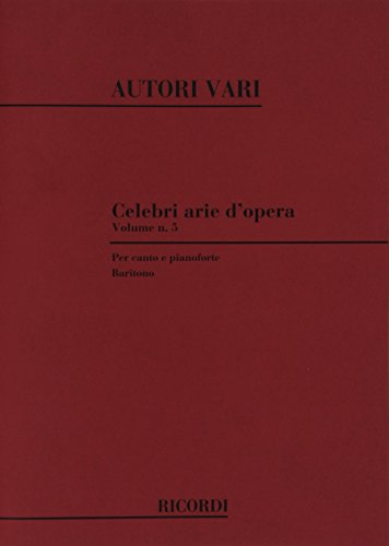 9780041275360: CELEBRI ARIE D'OPERA VOLUME 5: BARITONO