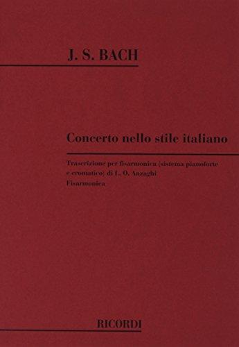 9780041280173: Concerto Italiano Bwv 971 - Accordion - SCORE