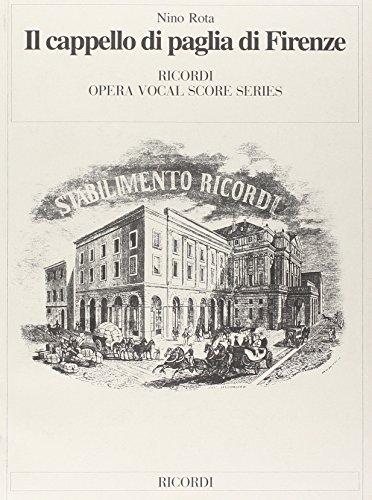 9780041290547: Partitions classique RICORDI ROTA N. - IL CAPPELLO DI PAGLIA DI FIRENZE - CHANT ET PIANO Choeur et ensemble vocal