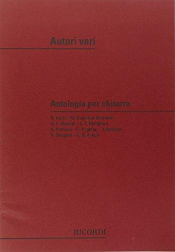 9780041298604: RICORDI ANTOLOGIA PER CHITARRA DI AUTORI MODERNI - GUITARE Educational books Acoustic guitar