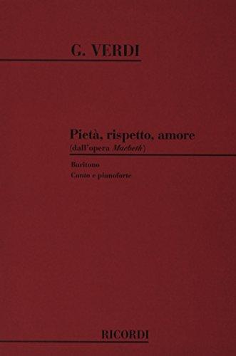 9780041306101: Macbeth: Pieta', Rispetto, Amore