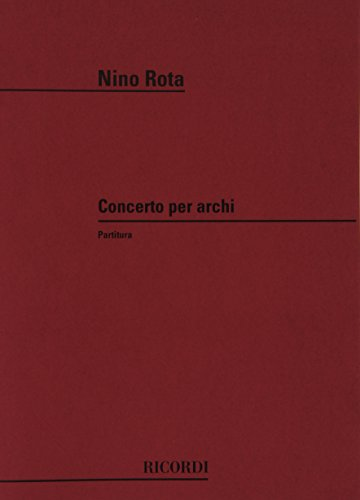 9780041312515: Partitions classique RICORDI ROTA N. - CONCERTO PER ARCHI - CONDUCTEUR Grand format