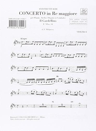 9780041315448: Partitions classique RICORDI VIVALDI A. - CONCERTO IN RE MAGG - IL GARDELLINO F.VI N.14 - ORCHESTRA Orchestre