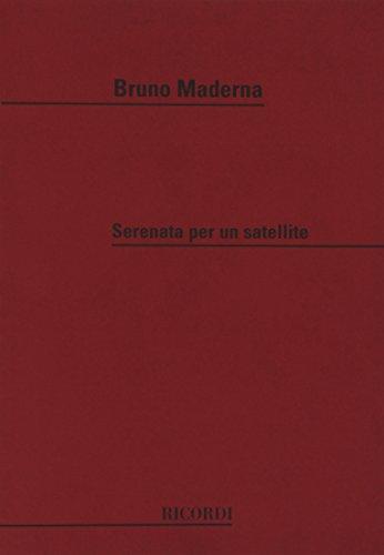 9780041316261: Partitions classique RICORDI MADERNA B. - SERENATA PER UN SATELLITE - CONDUCTEUR Grand format