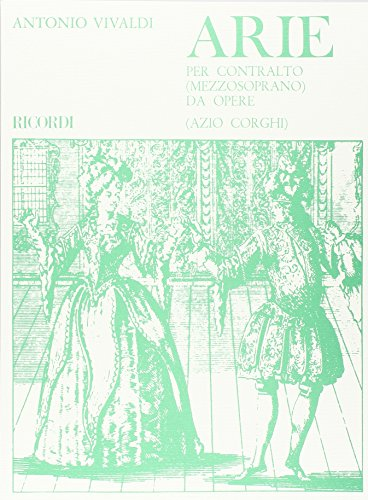 9780041318227: Partitions classique RICORDI VIVALDI A. - ARIE PER CONTRALTO/MEZZOSOPRANO DA OPERE Choeur et ensemble vocal