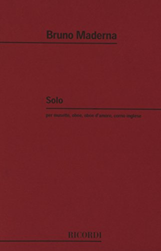 9780041318883: Partitions classique RICORDI MADERNA B. - SOLO PER MUSETTE - HAUTBOIS Hautbois