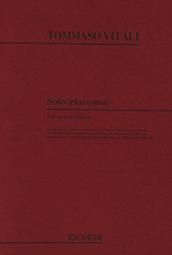 9780041326154: VITALI - Chacona en Sol menor (Solo) para Violin y Piano (Abbado)