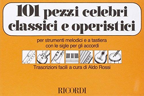 9780041326635: RICORDI 101 PEZZI CELEBRI CLASSICI E OPERISTICI - FLUTE A BEC Classical sheets Recorder