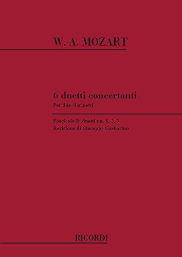 9780041332193: 6 duetti concertanti per 2 clarinetti clarinette