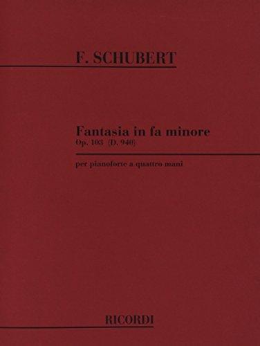 9780041333237: Fantasia in fa min. op..103 d 940 piano