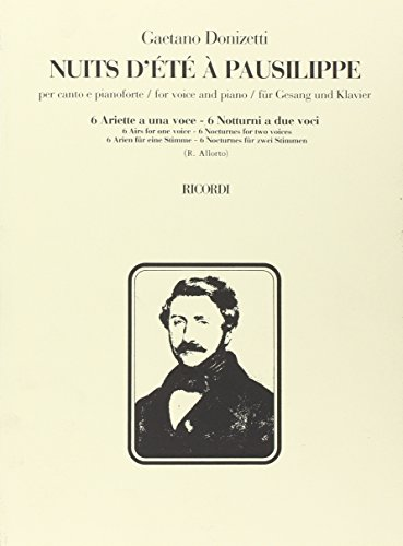 9780041339888: Partitions classique RICORDI DONIZETTI G. - NUITS D'ETE A PAUSILIPPE - CHANT ET PIANO Voix solo, piano
