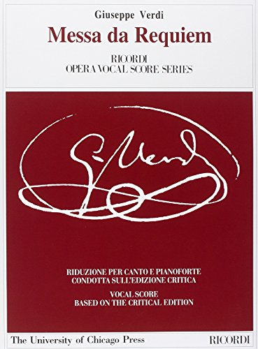 9780041341645: RICORDI VERDI G. - MISSA DI REQUIEM - CHANT-PIANO Classical sheets Choral and vocal ensembles