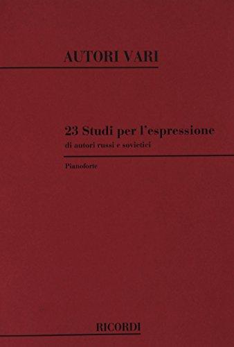 9780041342475: 23 Studi Per L'Espressione Di Autori Russi E - Piano - SCORE