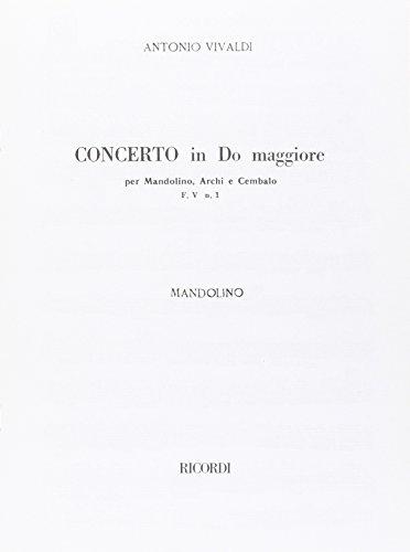 9780041342710: RICORDI VIVALDI - CONCERTO IN DO RV 425 F.V/1 - MANDOLINE Classical sheets Other guitars