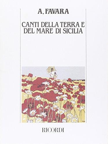 9780041343496: CANTI DELLA TERRA E DEL MARE DI SICILIA