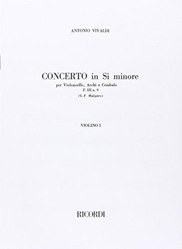 9780041344639: RICORDI VIVALDI A. - CONCERTO IN SI MIN. RV 424 F.III/9 - VIOLONCELLES Partition classique Cordes Violoncelle