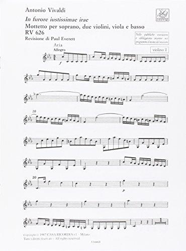 9780041344684: Partitions classique RICORDI VIVALDI A. - IN FURORE JUSTISSIMAE IRAE RV 626 - PARTIES SEPAREES Orchestre
