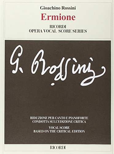 9780041345483: RICORDI ROSSINI G. - ERMIONE - CHANT, PIANO Classical sheets Choral and vocal ensembles