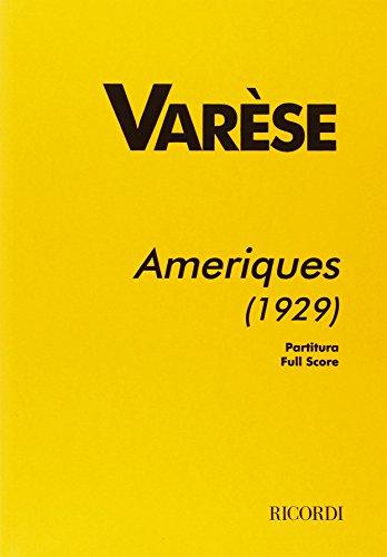 9780041353099: Partitions classique RICORDI VARESE E. - AMERIQUES (1929) - CONDUCTEUR Grand format