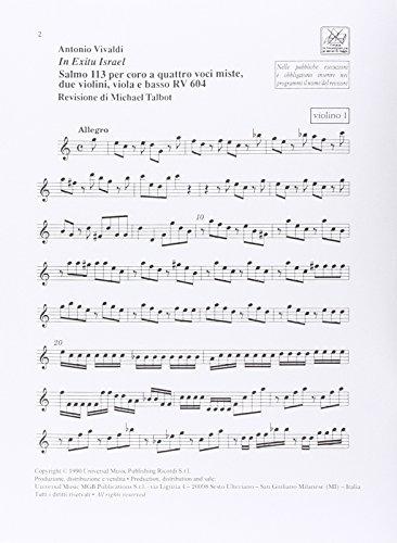 9780041354492: Partitions classique RICORDI VIVALDI A. - IN EXITU ISRAEL SALMO 113 - ORCHESTRE Orchestre