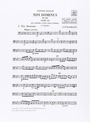 9780041356151: Partitions classique RICORDI VIVALDI A. - NISI DOMINUS SALMO 126 RV 608 - ORCHESTRA Orchestre