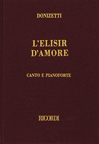 9780041370072: L' Elisir d'Amore - Soli SATB, SATB divisi, Piano - SCORE