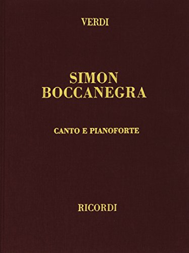 9780041370324: Simon Boccanegra - Vocal and Piano - SCORE