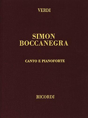 9780041370324: RICORDI VERDI G. - SIMON BOCCANEGRA - CHANT ET PIANO Classical sheets Voice solo, piano