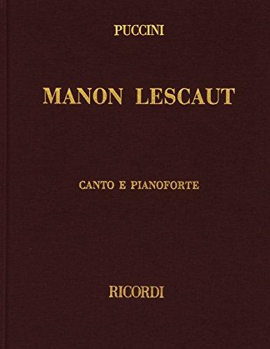 9780041370546: Partitions classique RICORDI PUCCINI G. - MANON LESCAUT - CHANT ET PIANO Voix solo, piano
