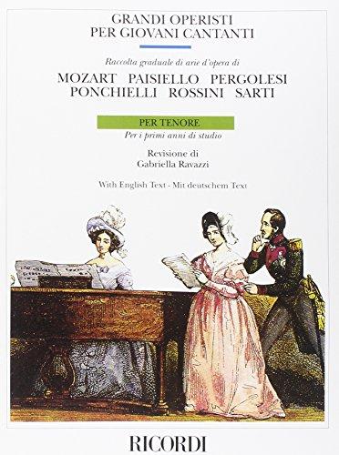 9780041376524: RICORDI GRANDI OPERISTI PER GIOVANI CANTANTI - CHANT ET PIANO Classical sheets Choral and vocal ensembles