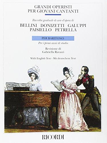 9780041381139: RICORDI GRANDI OPERISTI PER GIOVANNI CANTANTI Partition classique Vocale - chorale Voix solo, piano