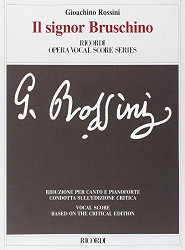 9780041382693: Partition classique RICORDI ROSSINI G. - SIGNOR BRUSCHINO - CHANT ET PIANO Voix solo, piano