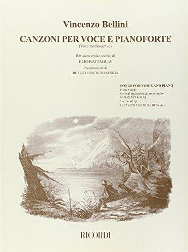 9780041387223: Partitions classique RICORDI BELLINI V. - CANZONI, PER VOCE E PIANOFORTE: VOL. 2 - VOCE MEDIO-GRAVE Voix solo, piano