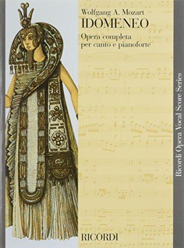 9780041393682: RICORDI MOZART W. A. - IDOMENEO K. 366 - CHANT ET PIANO Classical sheets Voice solo, piano