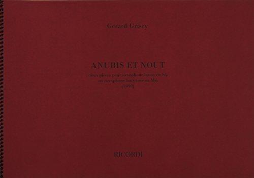 9780041394085: Anubis Et Nout - Saxophone - SCORE