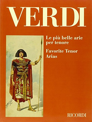 9780041395815: Partitions classique RICORDI VERDI G. - PIU' BELLE ARIE PER TENORE Ténor, piano