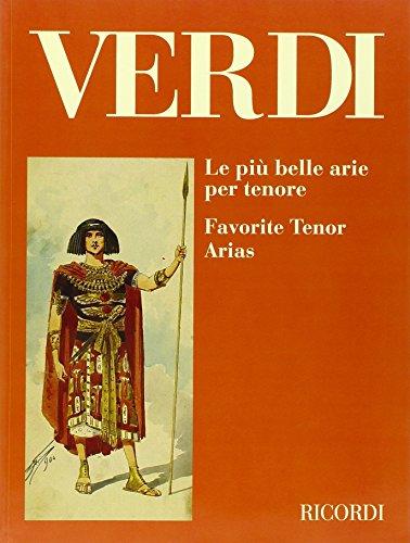9780041395815: Partitions classique RICORDI VERDI G. - PIU' BELLE ARIE PER TENORE T�nor, piano